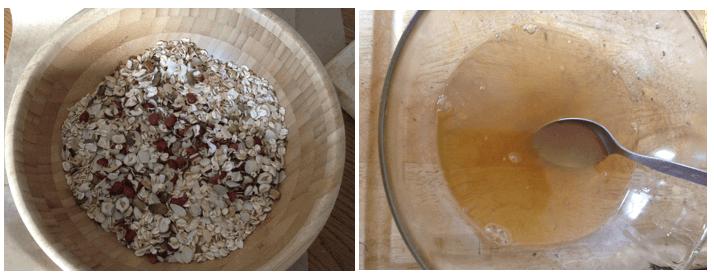 granola z miodem przepis