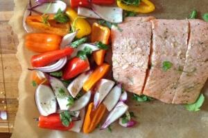 pieczony łosoś z warzywami Kasia Gurbacka