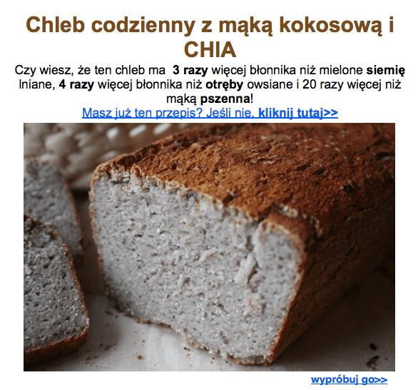 chleb z mąką kokosową i chia