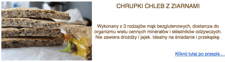 chrupki chleb bezglutenowy z ziarnami