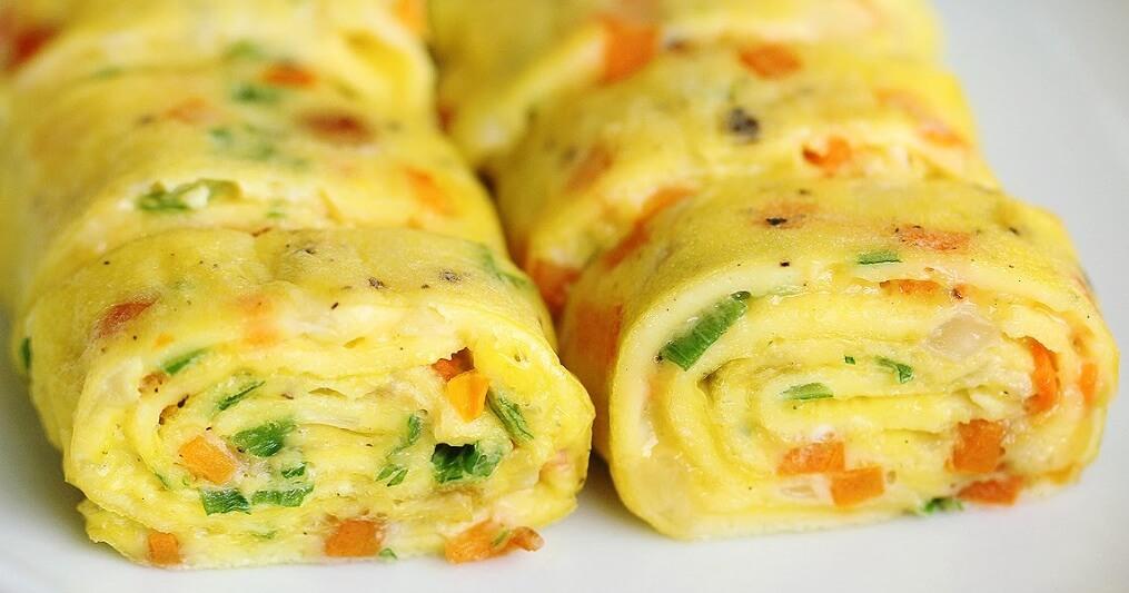 rollsy z jajek
