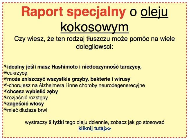 raport o oleju kokosowym