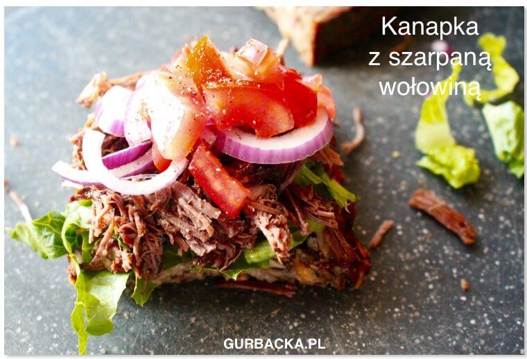 kanapka z szarpaną wołowiną Kasi G