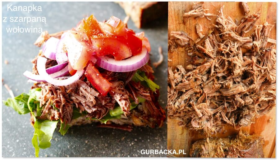 kanapka z szarpaną wołowiną Kasi Gurbackiej