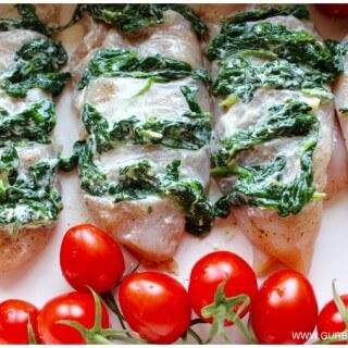 filety z piersi kurczaka ze szpinakiem Kasia Gurbacka