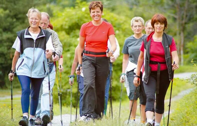 nordic-walking chodzenie z kijkami