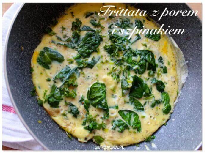 fritata ze szpinakiem