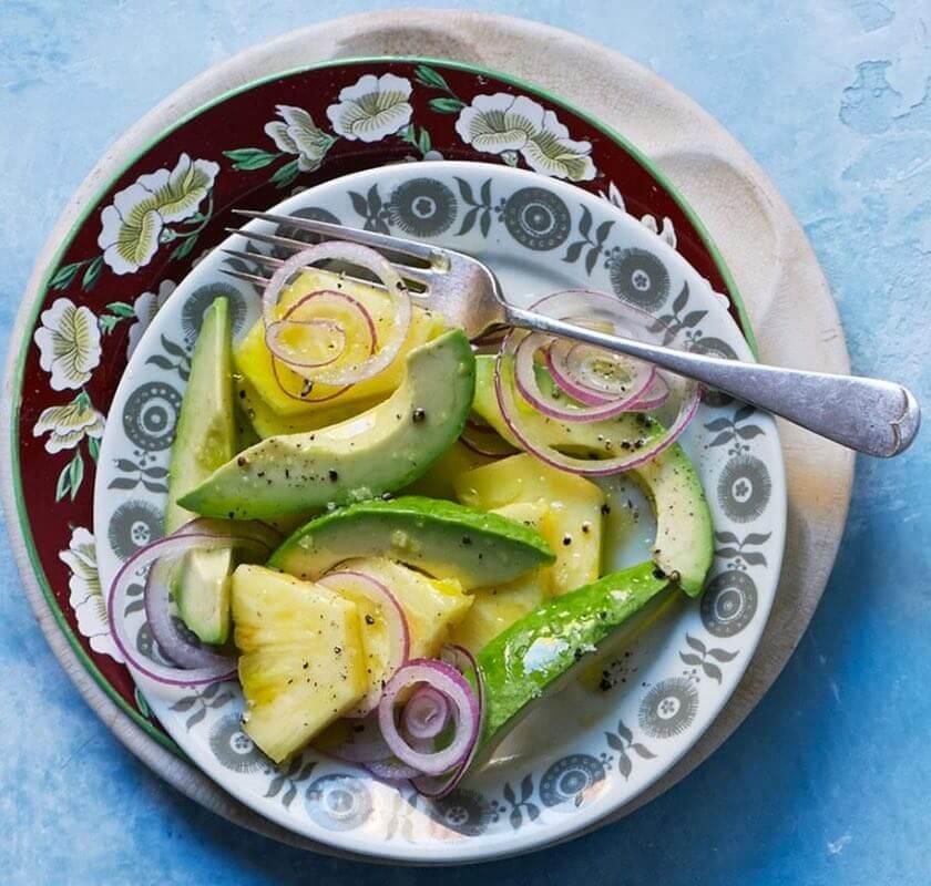Prosta Salatka Z Awokado I Ananasem Zdrowa Dieta Odchudzanie I