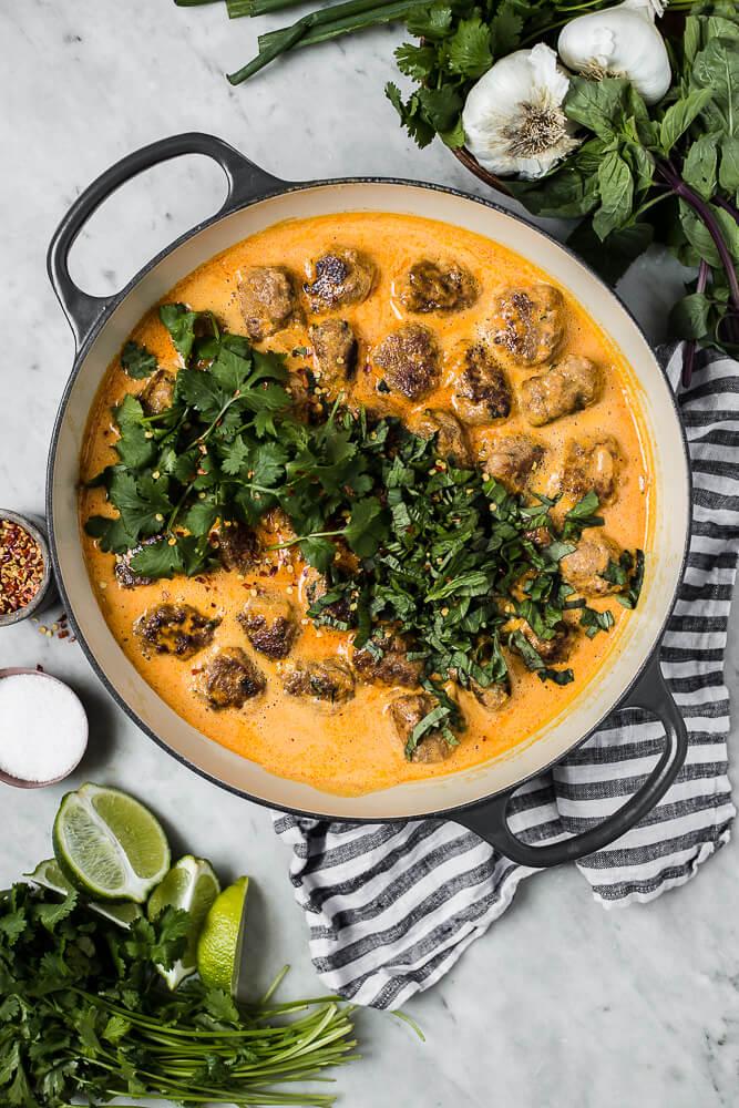 pulpety z indyka w sosie curry
