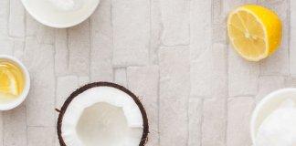 olej kokosowy i sok z cytryny na siwe włosy
