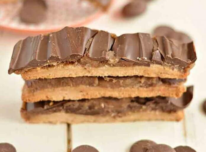 batoniki czekoladowe z karmelem