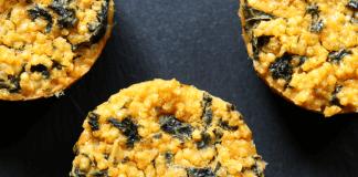 wytrawne muffinki z jarmużem